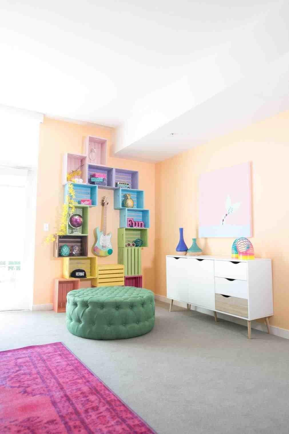 Kids Decor Nursery Wall Art Diy Glitter Rainbow