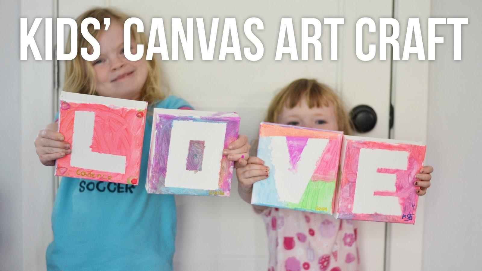 Kids Diy Canvas Painting Love Art Mother Day Craft