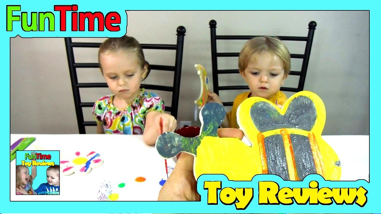 Kids Diy Magnet Painting Dad Family Fun Time