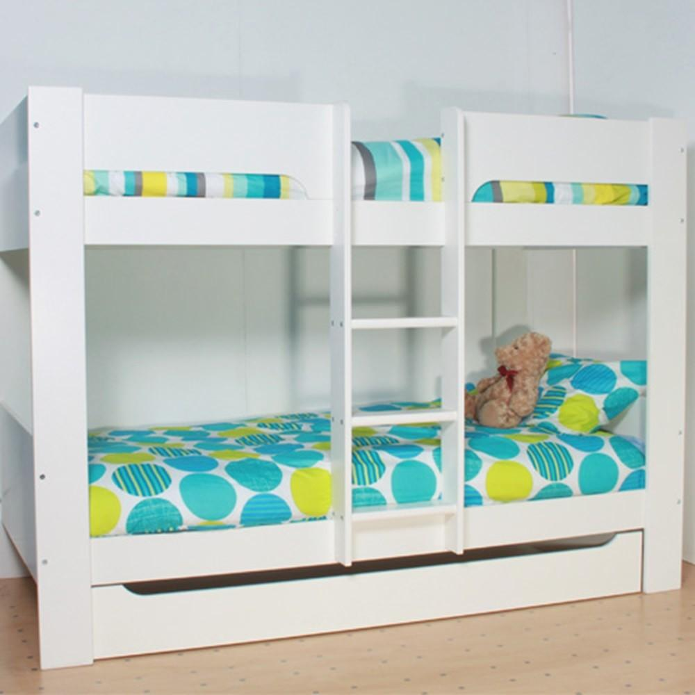 Kids Heidi Bunk Bed White Beds Cuckooland