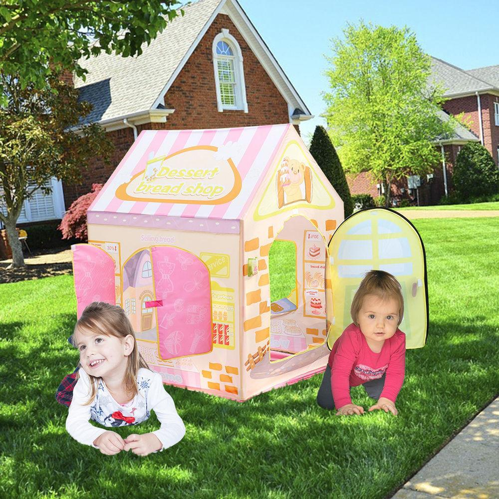 Kids Indoor Outdoor Play Tent Cake Shop Playhouse Playing