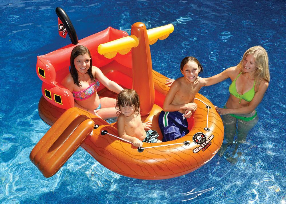 Kids Inflatable Swimming Pool Float Blow Fun Pirate