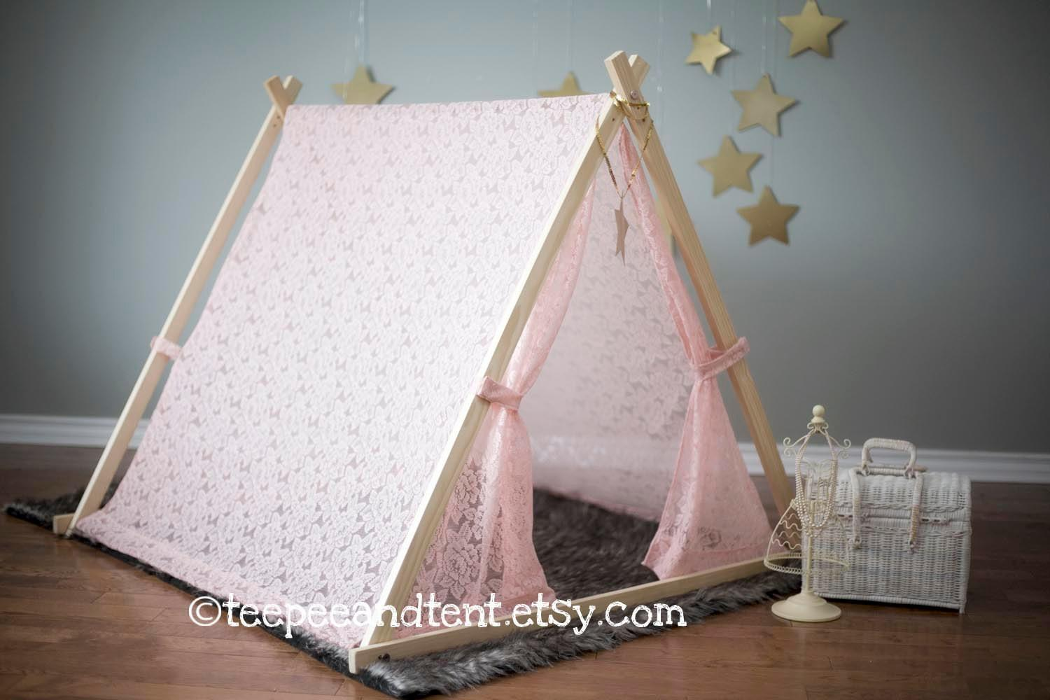 Kids Lace Teepee Play Tent Stock Teepeeandtent Etsy