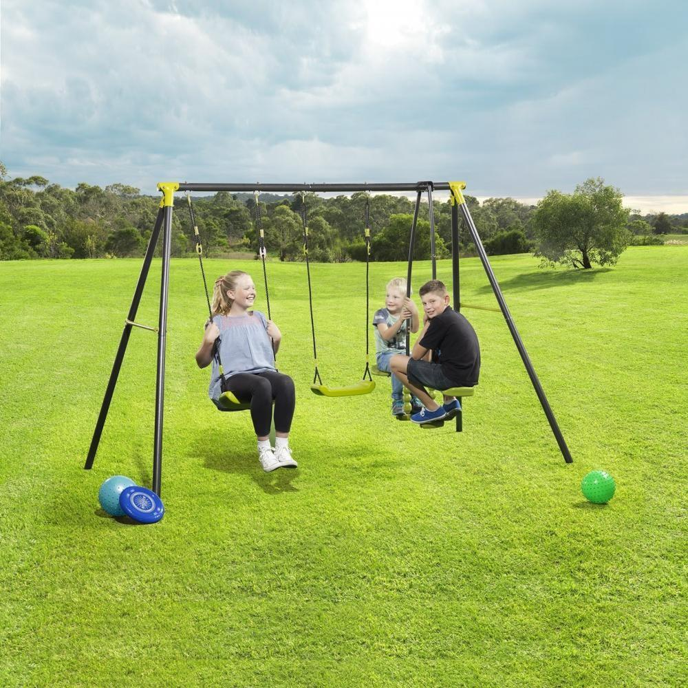Kids Outdoor Garden Toy Metal Frame See Saw Glider Double