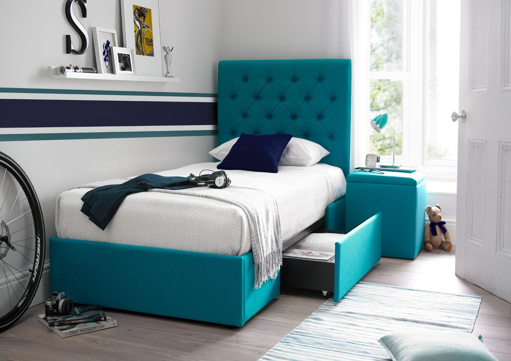 Kids Room Teal Drawer Bed Stylish Looks