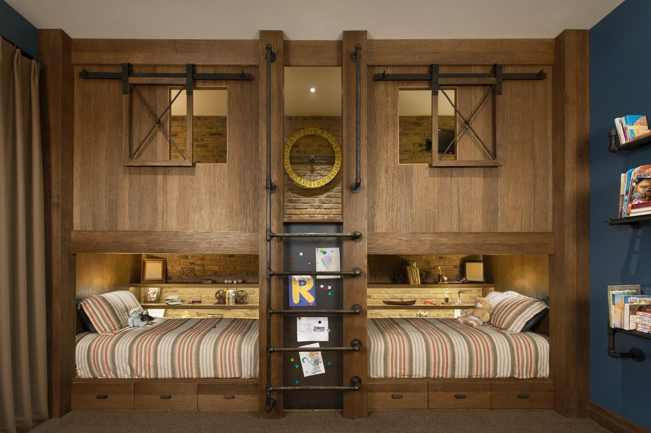 Kids Rustic Industrial Bedroom Angelica Henry Design