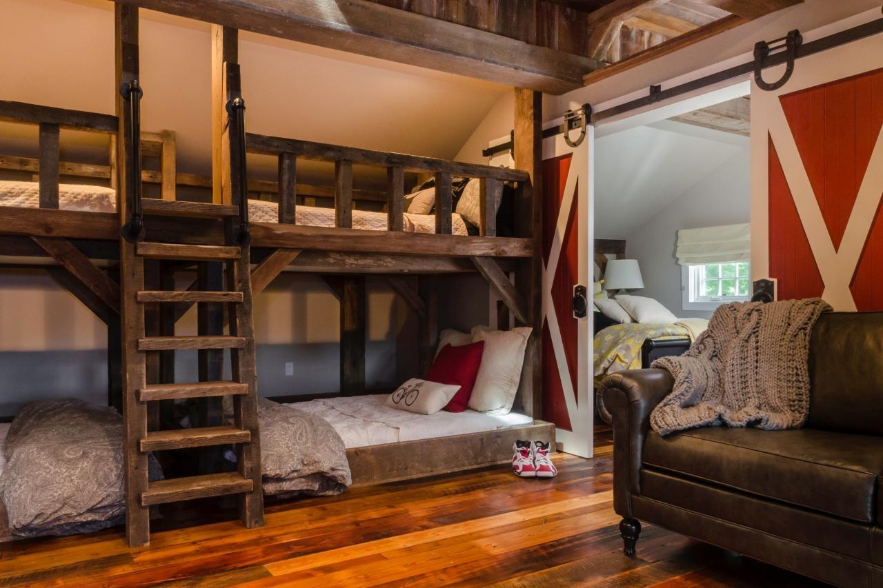 Kids Rustic Room Bunk Beds Barn Door Fresh