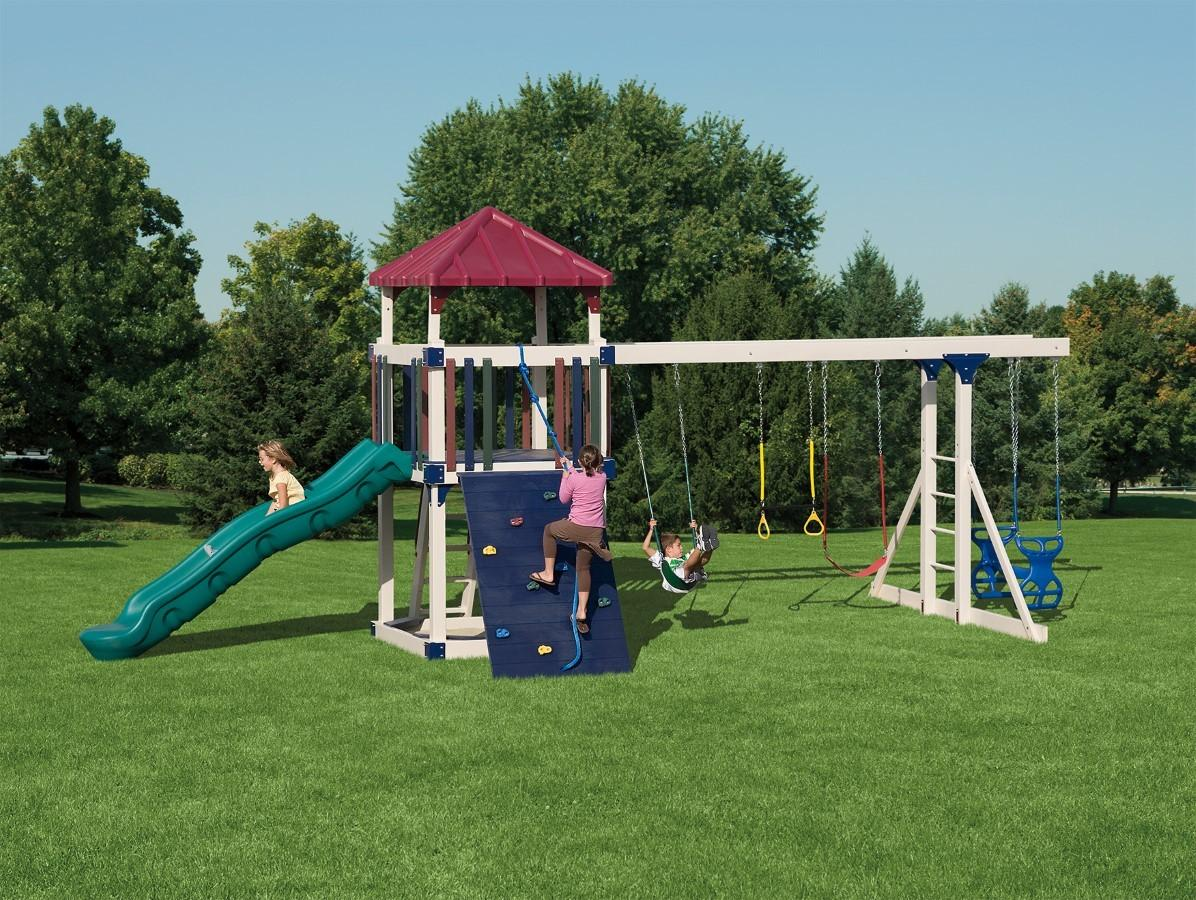 Kids Swing Sets Maintenance Vinyl Outdoor Playsets