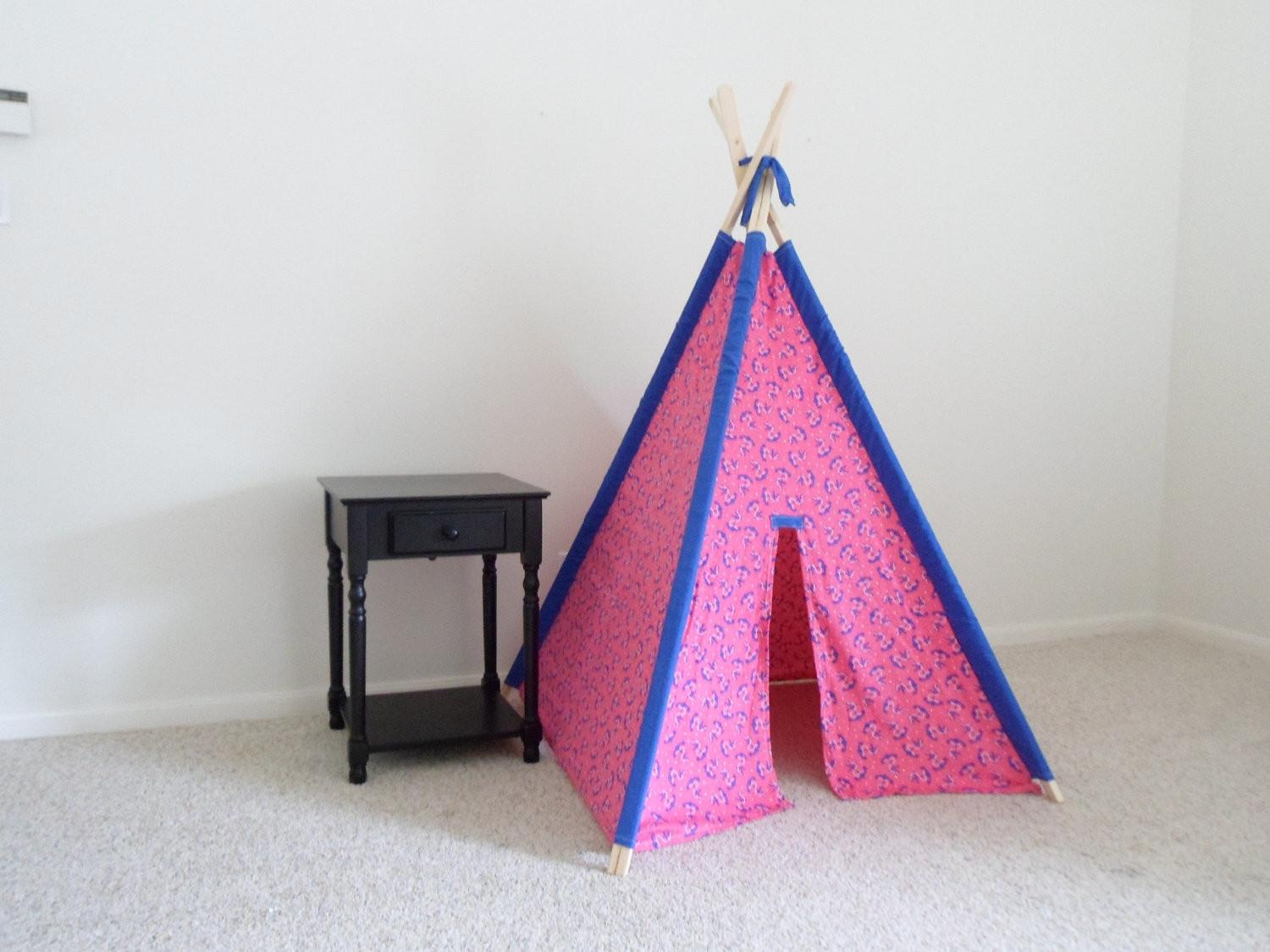 Kids Tent Teepee Reading Nook Wigwam Fort Pink