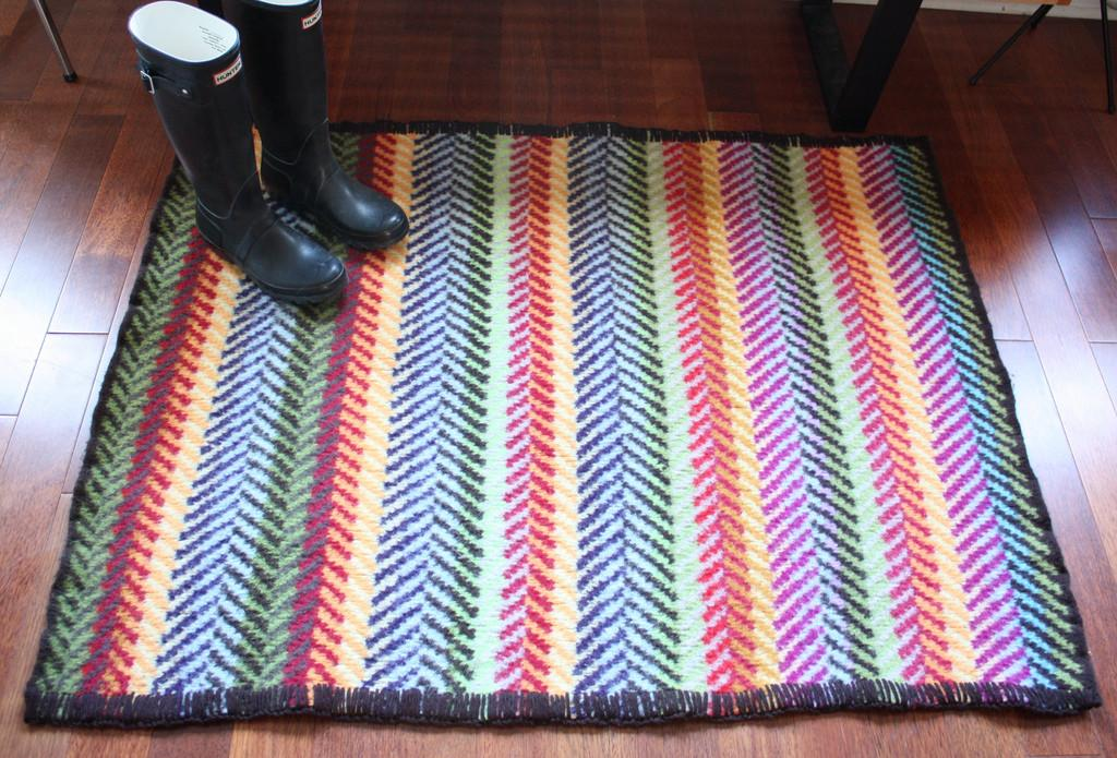 Kiki Mariko Rug After Felted Finished Pattern