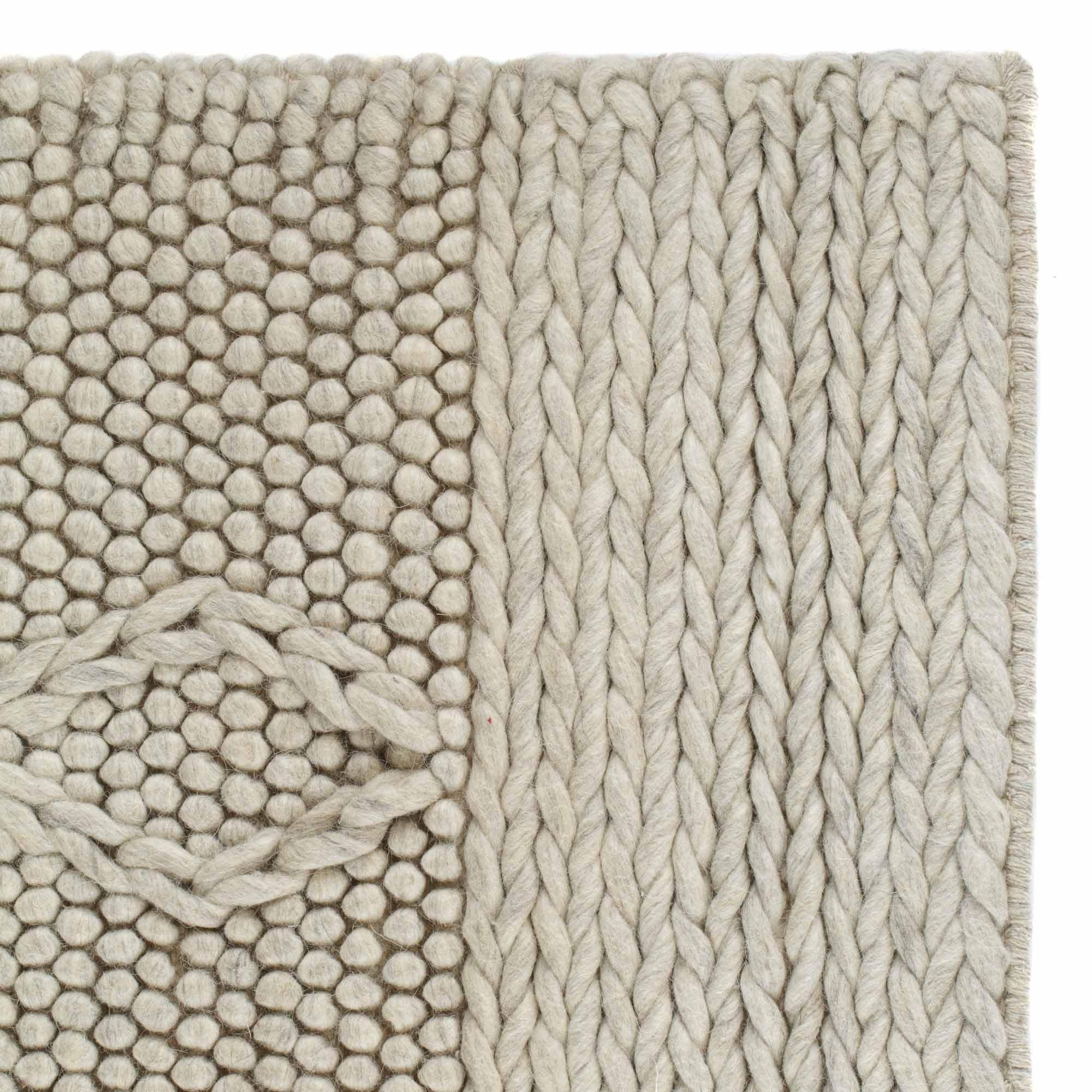 Kilen Rug Cream Cable Knit Design