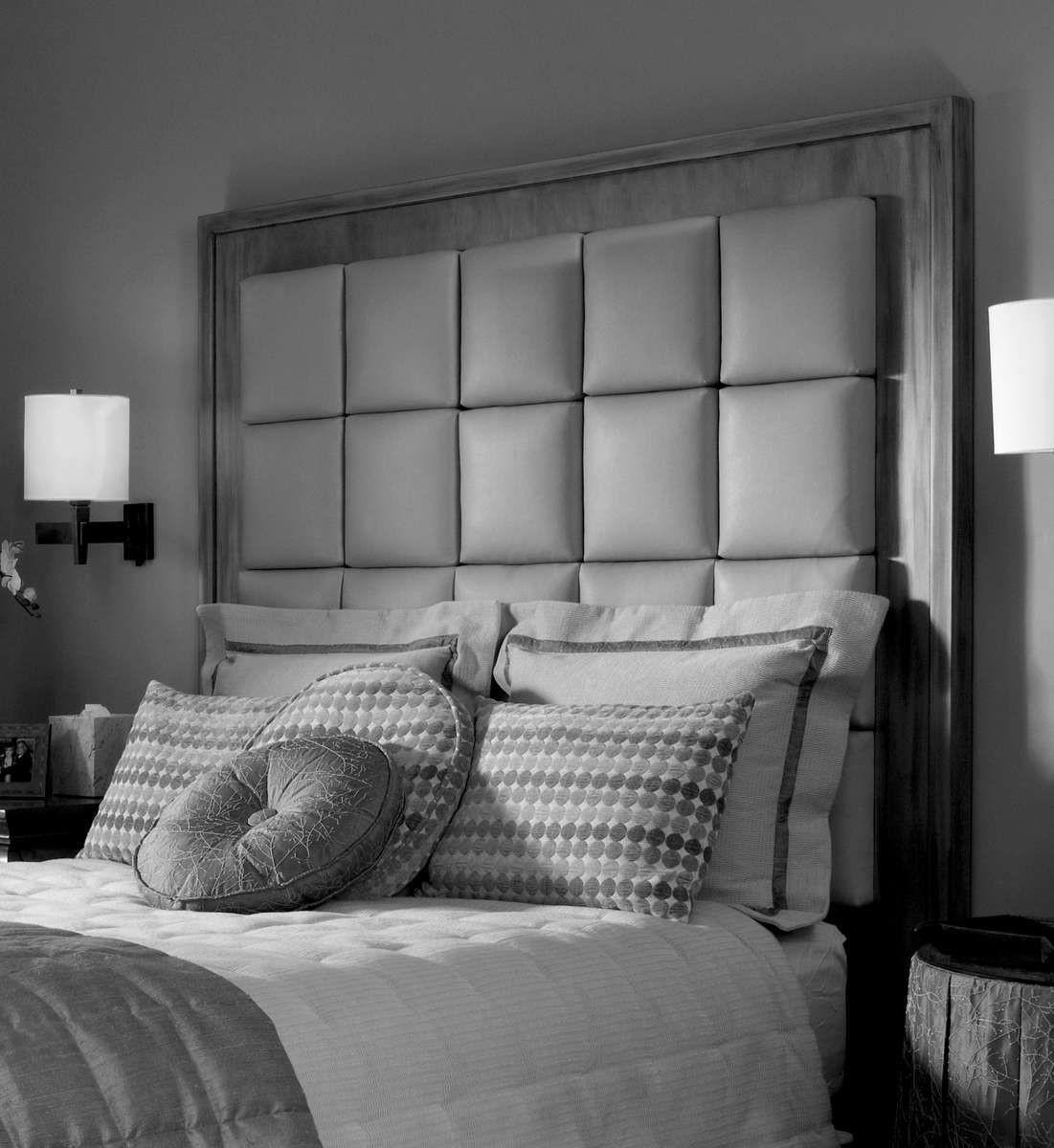 King Bed Tall Headboards Trendy