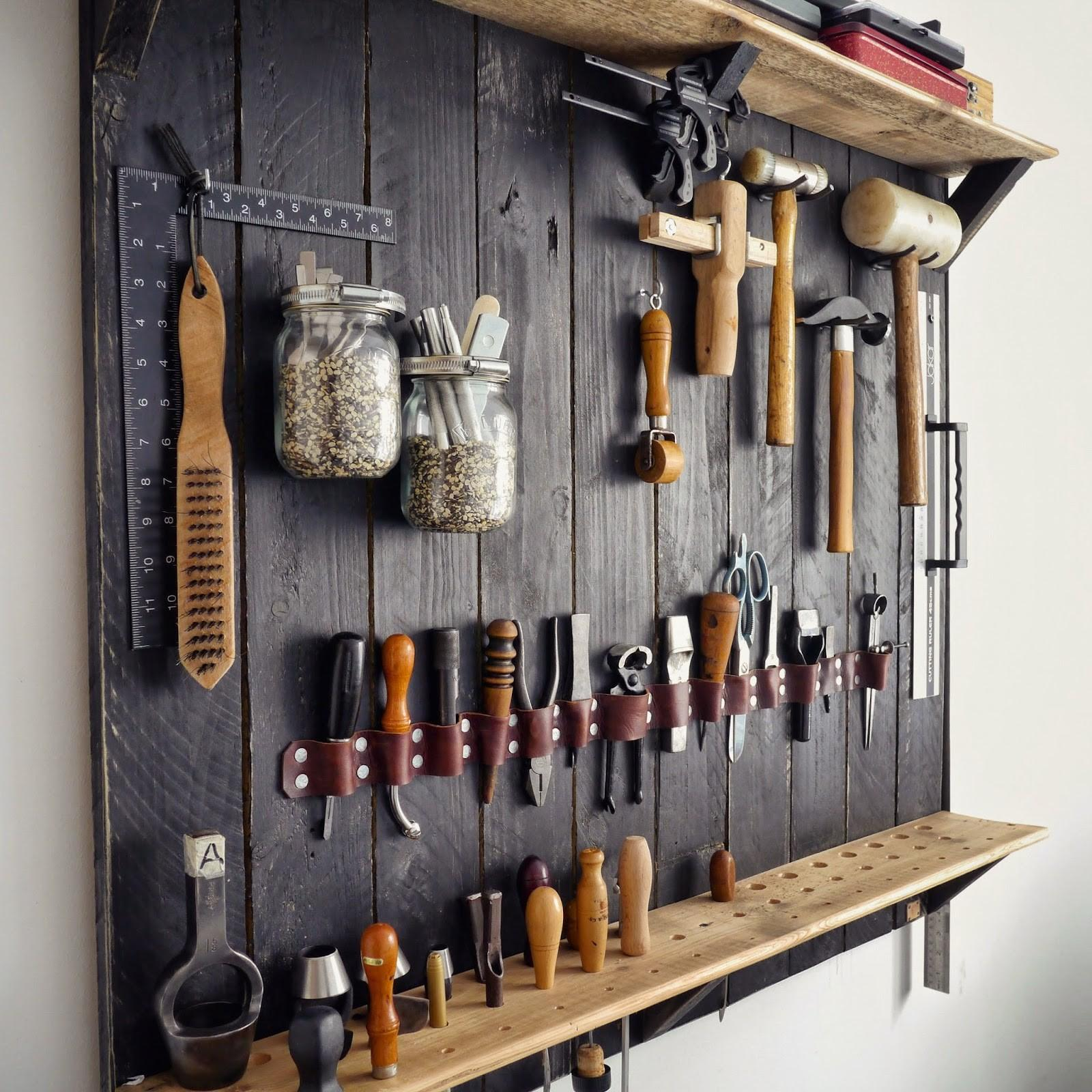 Kingsley Leather Hanging New Tool Rack