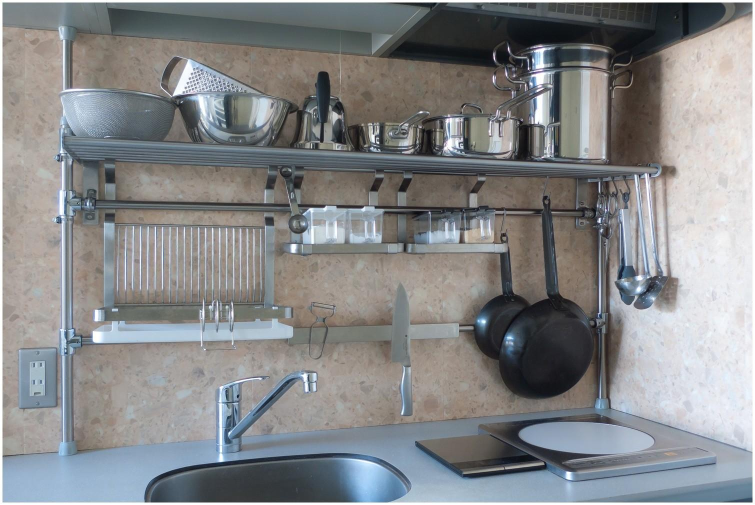 Kitchen Amazing Stainless Steel Wall Shelves