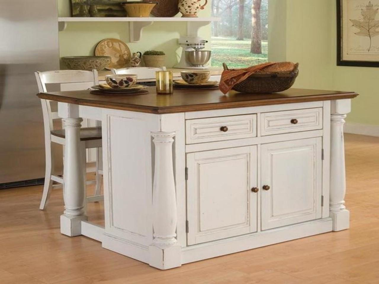 Kitchen Breakfast Bar Islands Wheels Portable