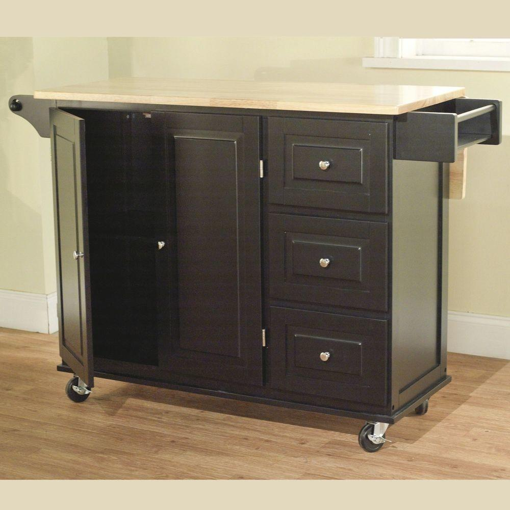 Kitchen Cabinet Cart Storage Buffet Table Serving
