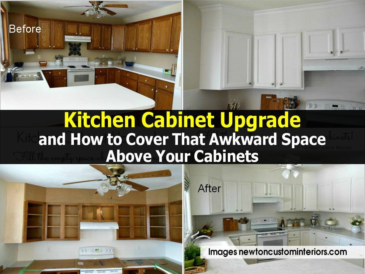 Kitchen Cabinet Upgrade Cover Awkward