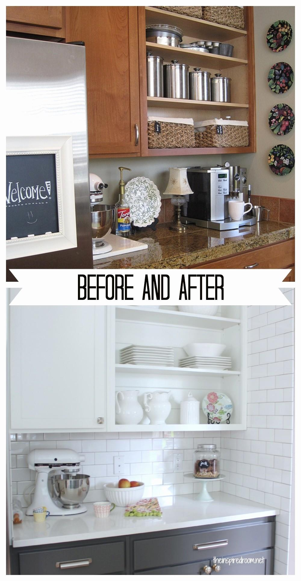 Kitchen Cabinets Painted White Before After Lovely