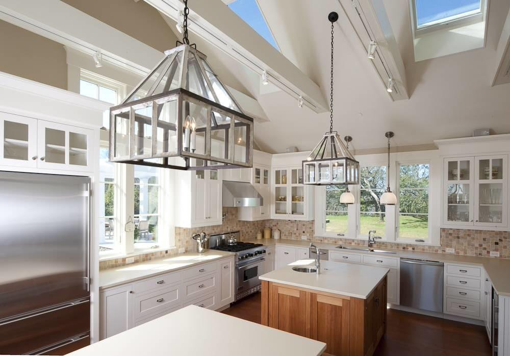 Kitchen Cabinets Vaulted Ceiling Skylights Windows