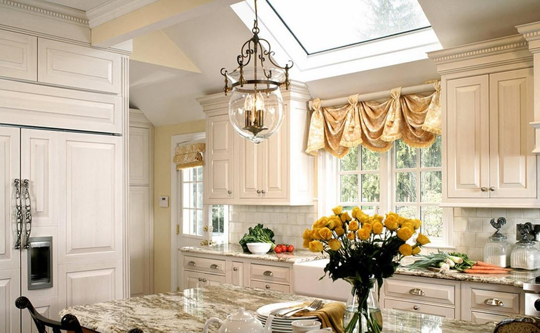 Kitchen Curtain Ideas Large Windows