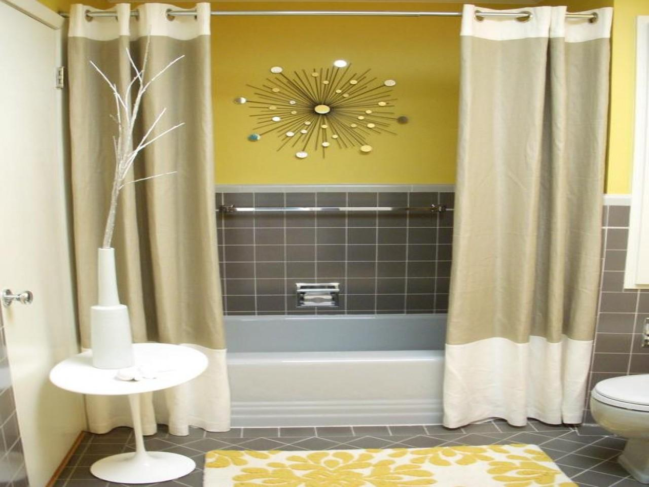 Kitchen Curtain Patterns Yellow Gray Bathroom Blue