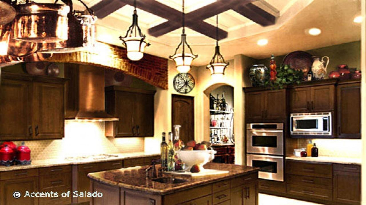 Kitchen Decorating Ideas Red Accents Rustic French