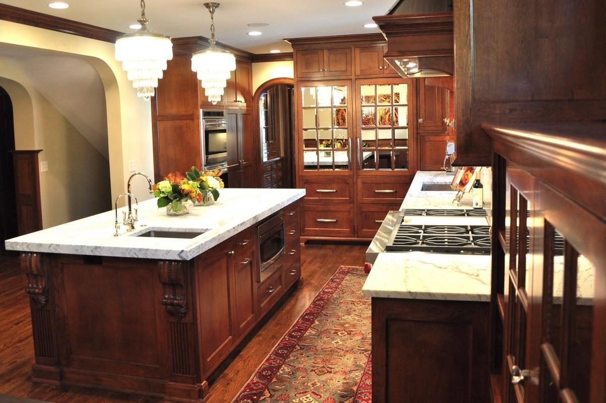 Kitchen Design Decoration Using Solid Red Cherry Wood
