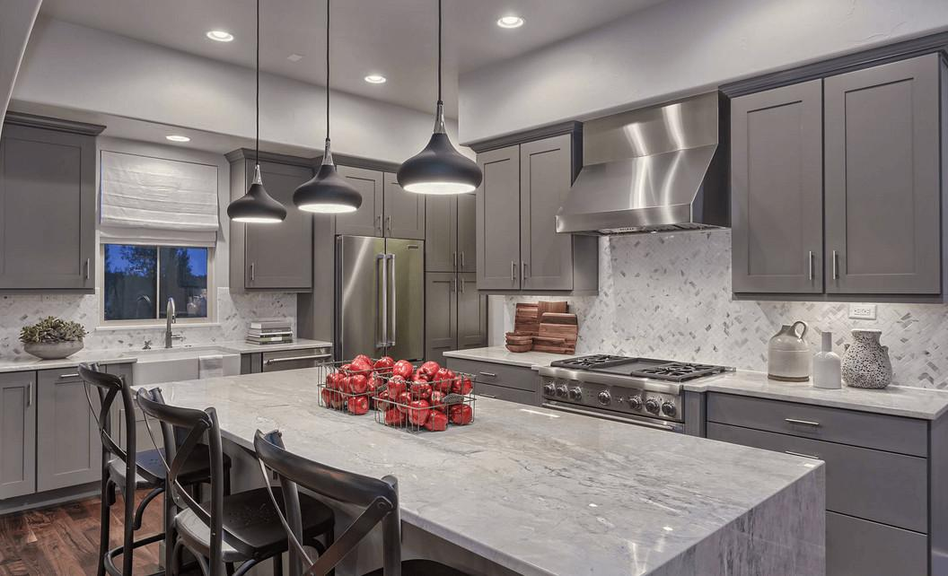 Kitchen Design Slate Gray Contemporary Island