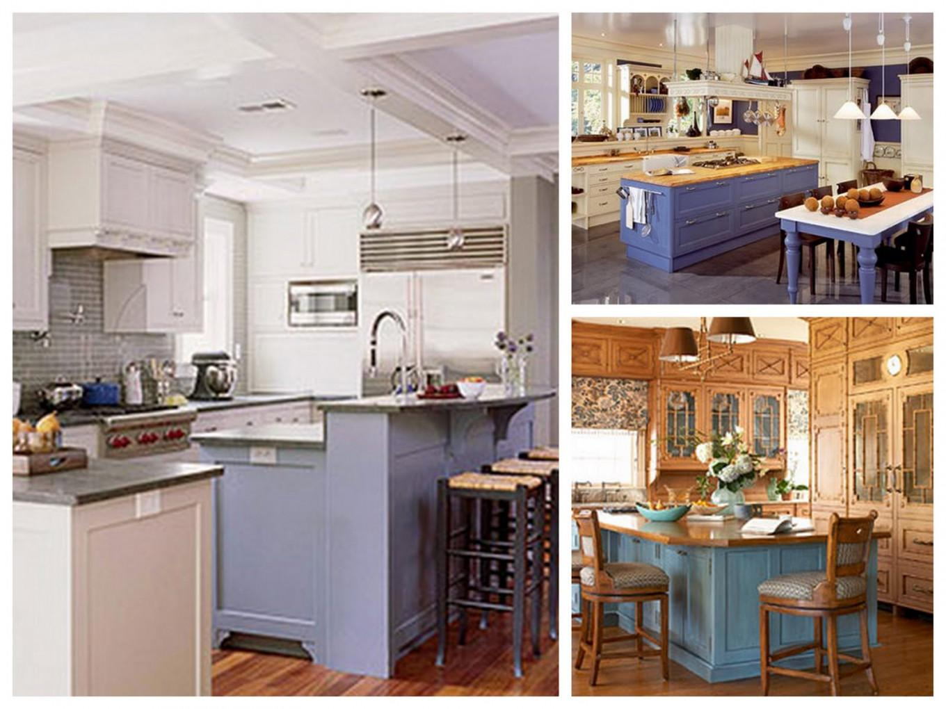 Kitchen Different Color Cabinets Best