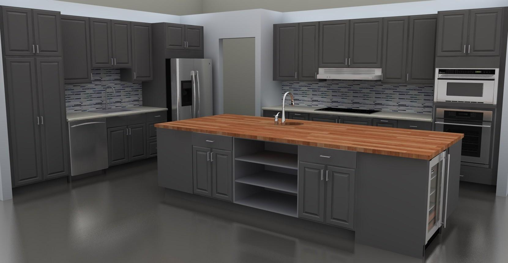 Kitchen Excellent Modern Gray Cabinets Ideas