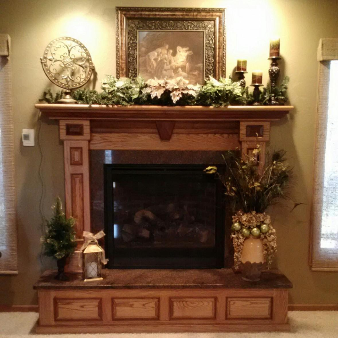 Kitchen Fireplace Mantel Decor Fireplaces