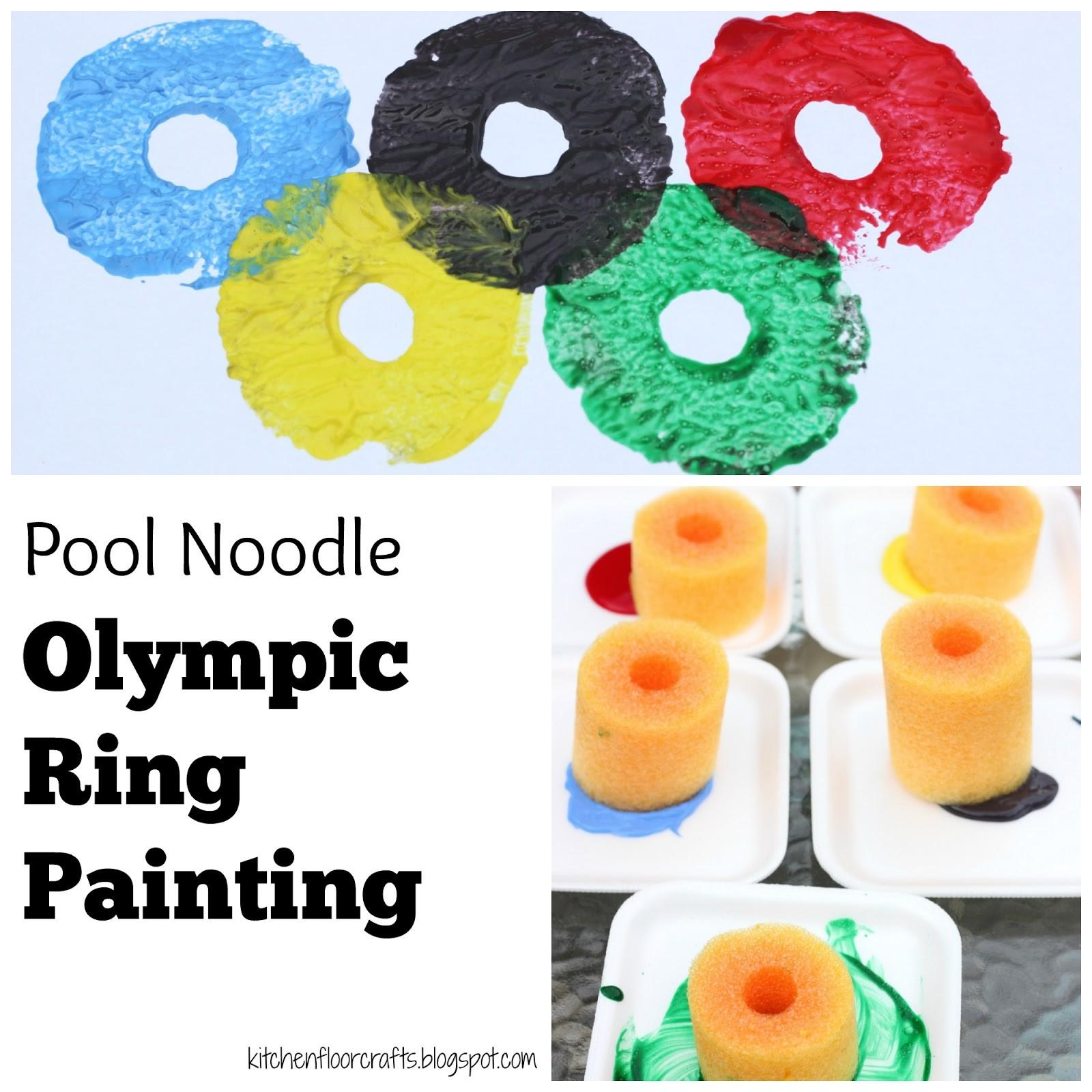 Kitchen Floor Crafts Pool Noodle Olympic Ring Painting