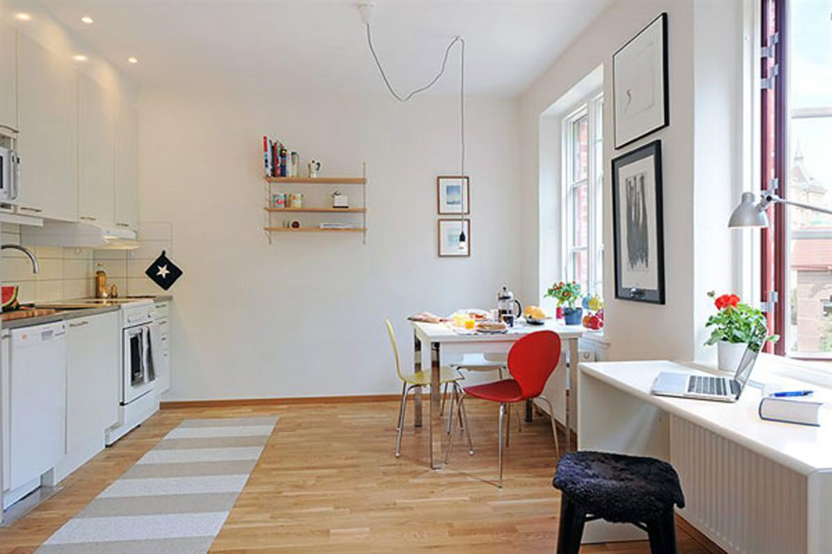 Kitchen Modern Small Space Apartment