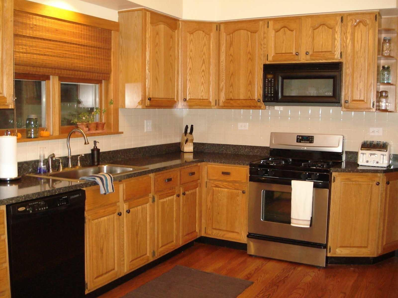 Kitchen Paint Colors Honey Oak Cabinets Appliance