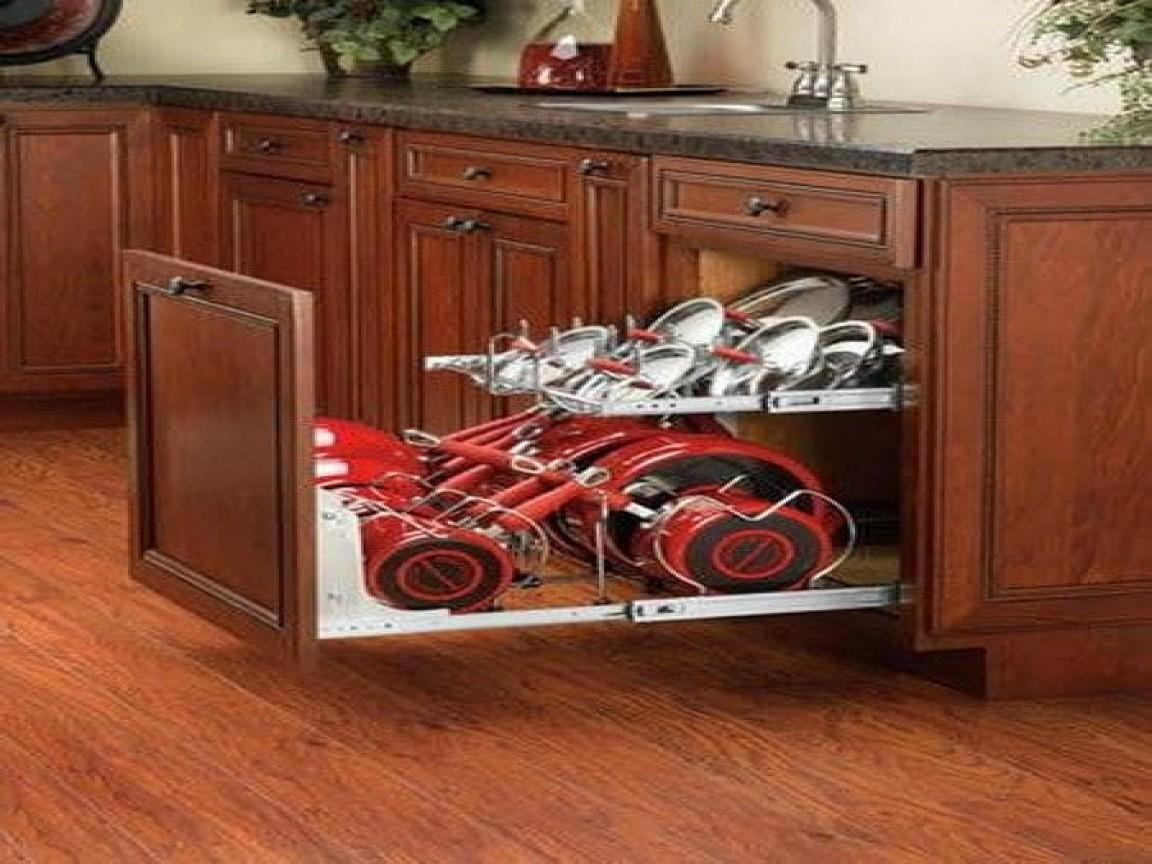Kitchen Pot Organizer Corner Cabinet Storage Ideas