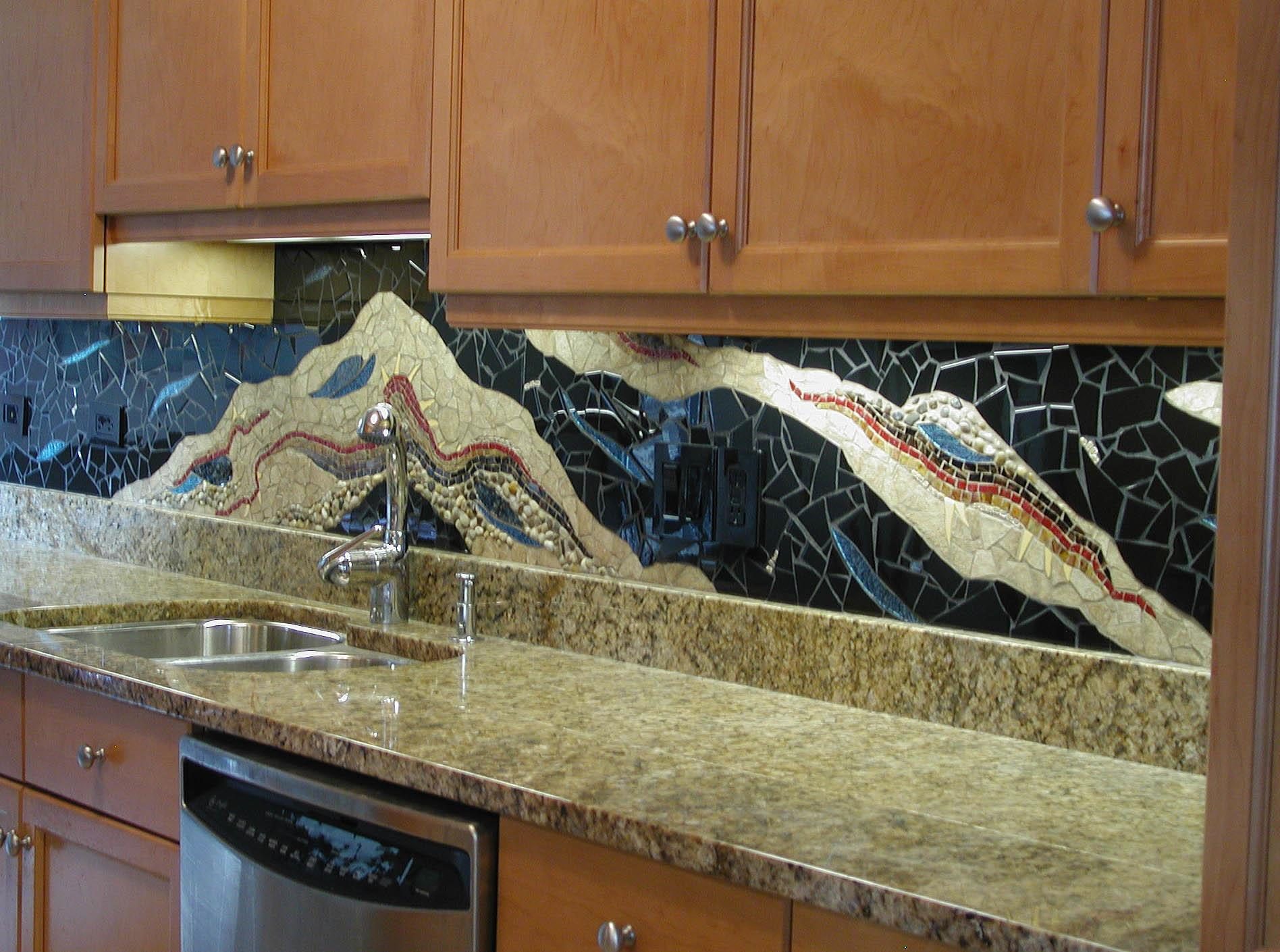 Kitchen Remodel Designs Mosaic Backsplash Kitchens