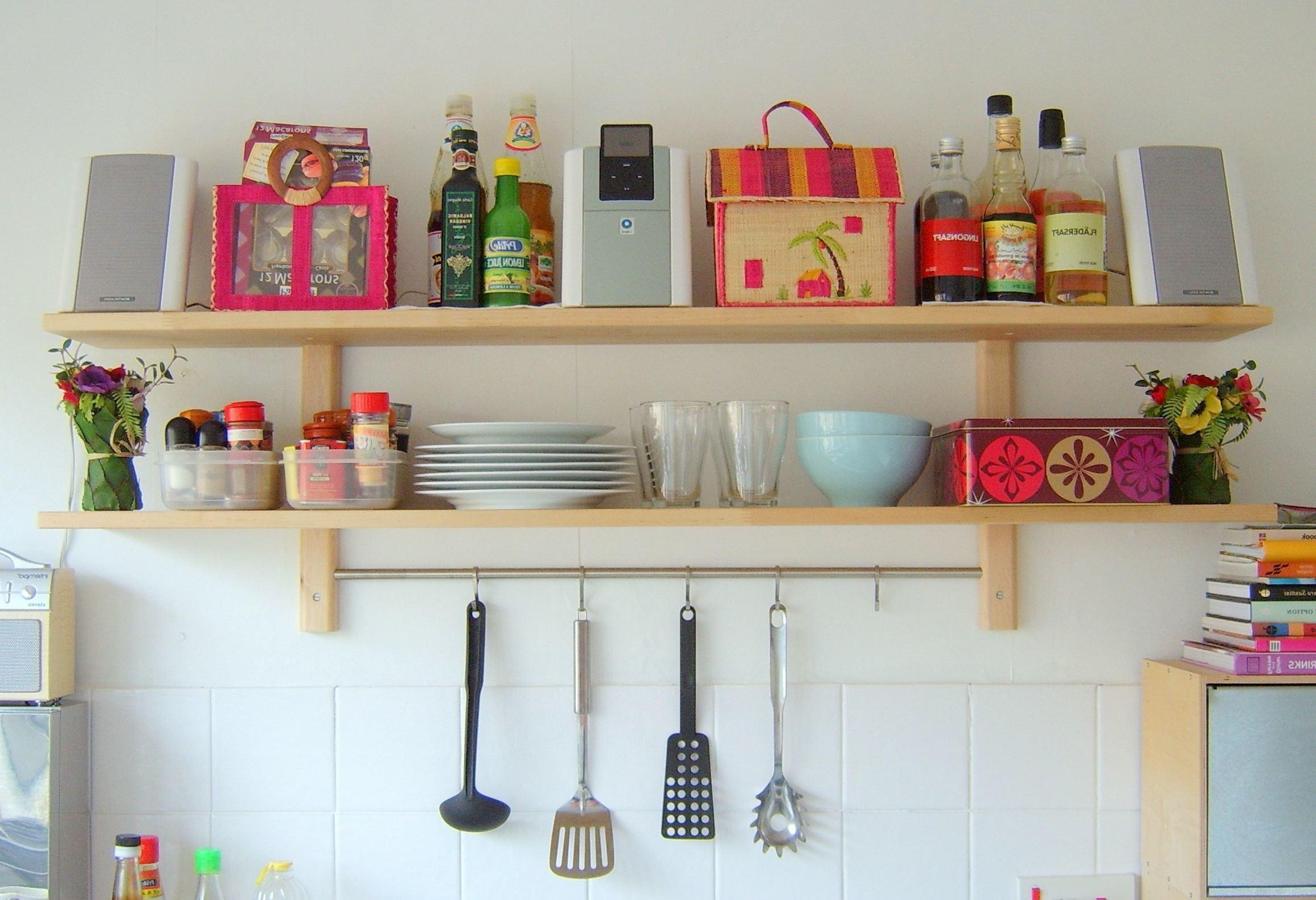 Kitchen Shelving Ideas Wooden Cabinet Double Bowl Sink