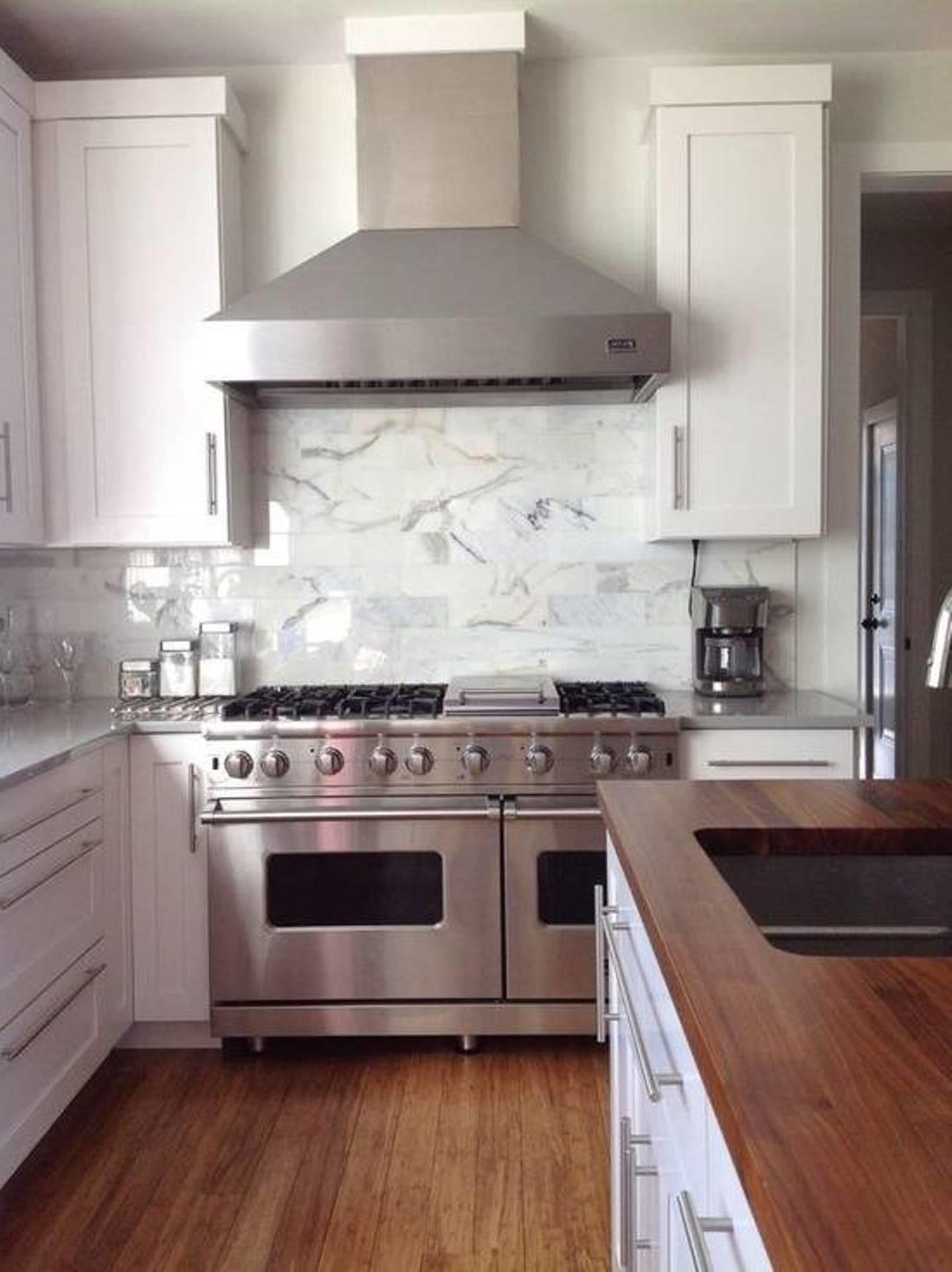 Kitchen Stainless Steel Countertops White Cabinets