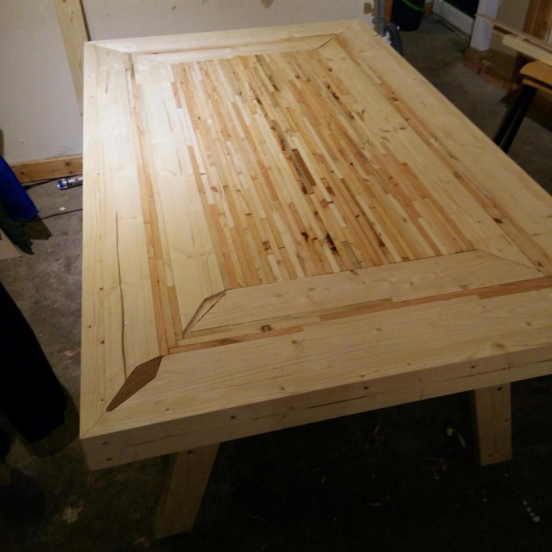 Kitchen Table Recycled Pallets Steps