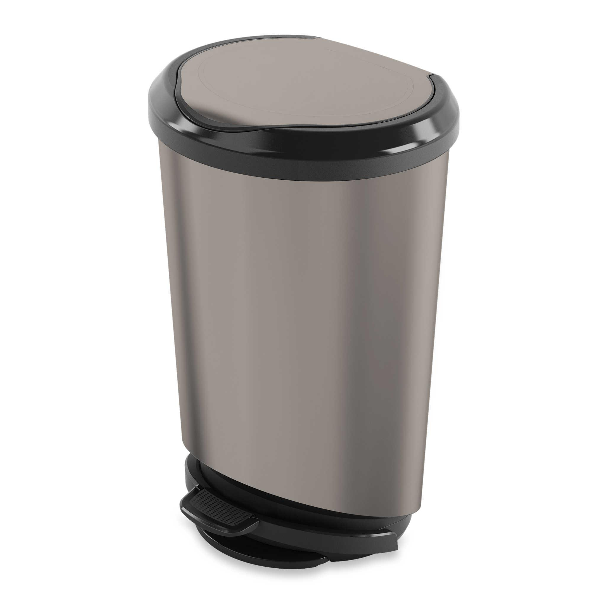Kitchen Trash Cans Trendy Can Sizes