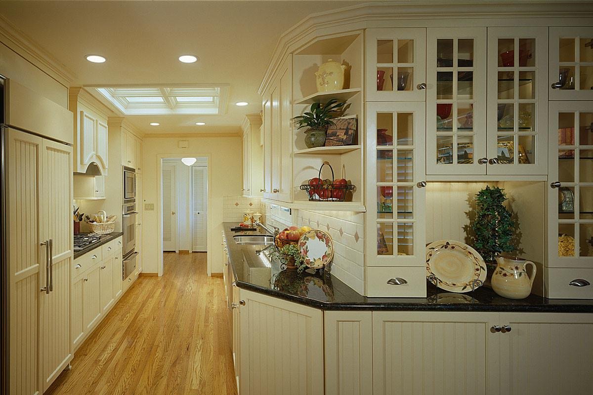 Kitchen White Country Style Galley