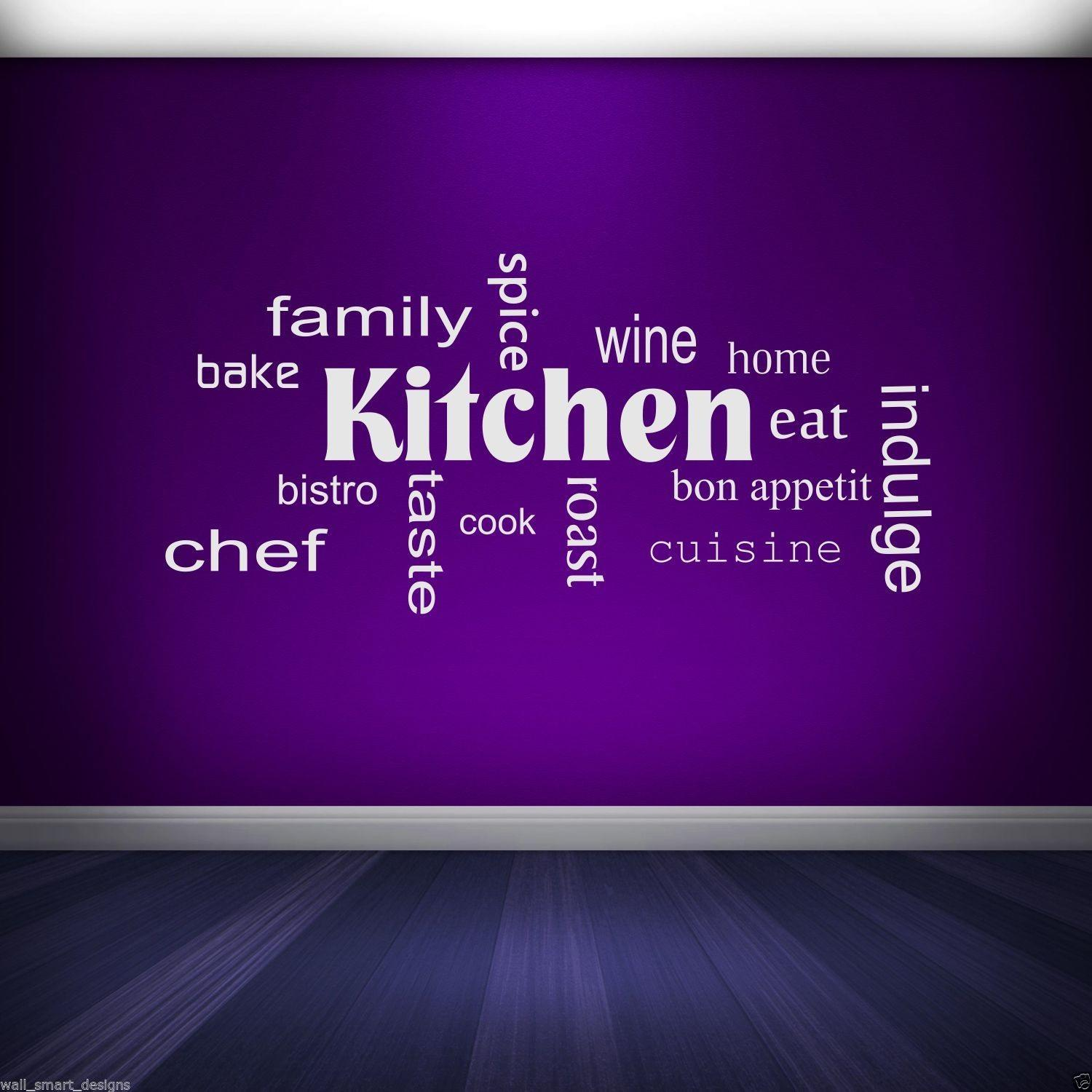 Kitchen Words Phrases Wall Sticker Quote Decal Stencil