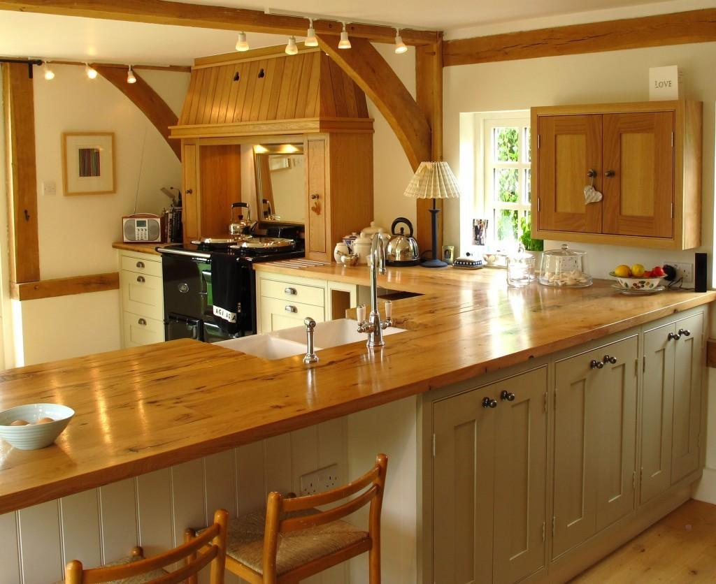 Kitchen Worktops Idea Marble Combined Wood
