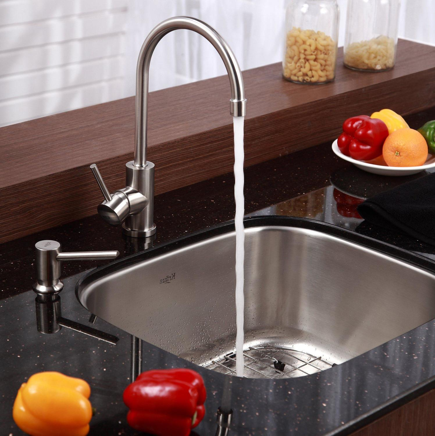 Kitchens Alluring Kitchen Sinks Faucets Well