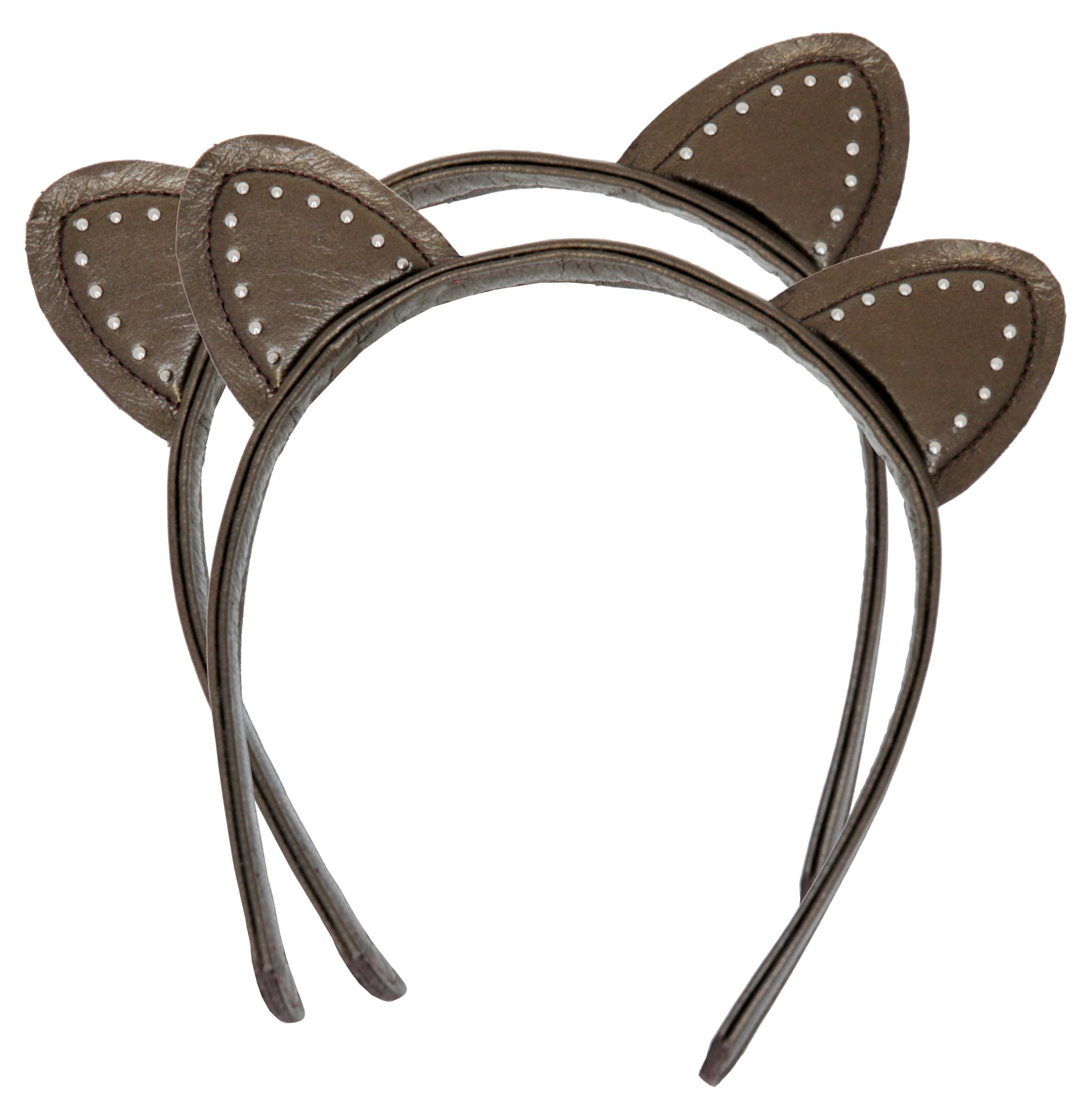 Kitty Planet Ariana Stud Cat Ear Bronze Leather Head Band