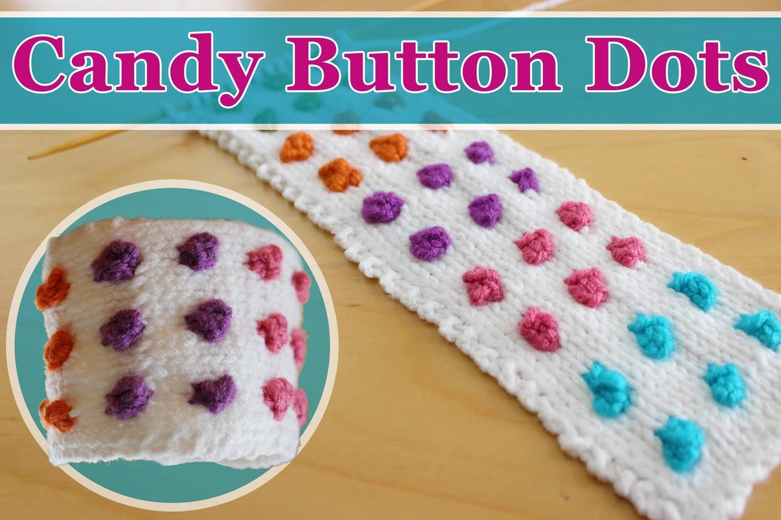 Knit Candy Button Dots Cuff Bracelet Studio