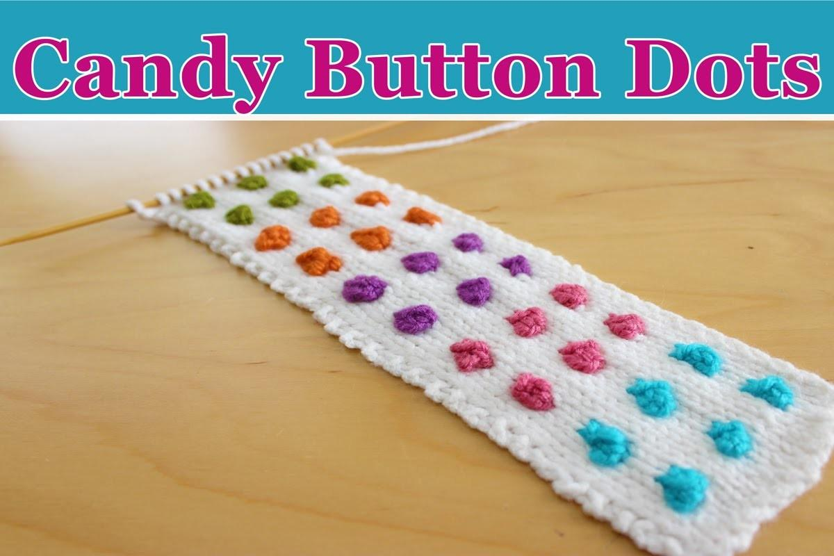 Knit Candy Button Dots Diy Cuff Bracelet