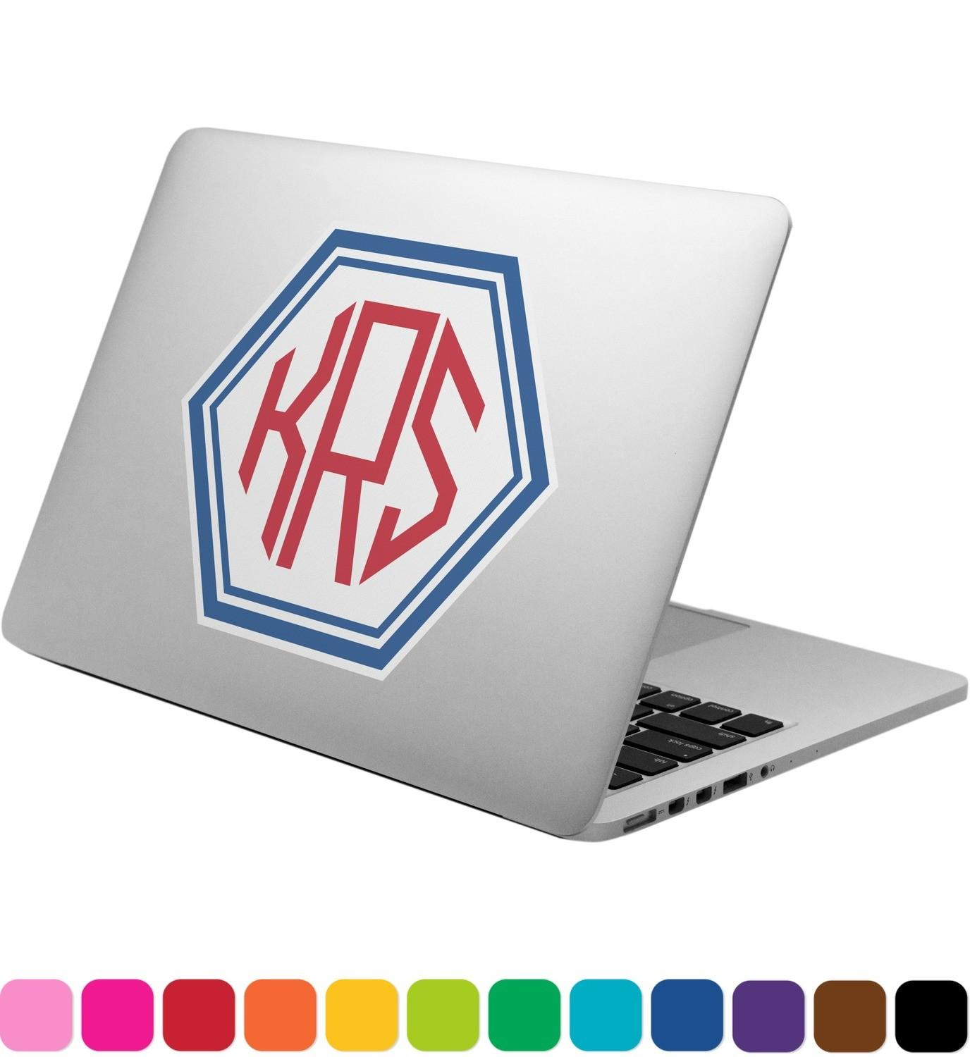 Knitted Argyle Skulls Laptop Decal Personalized
