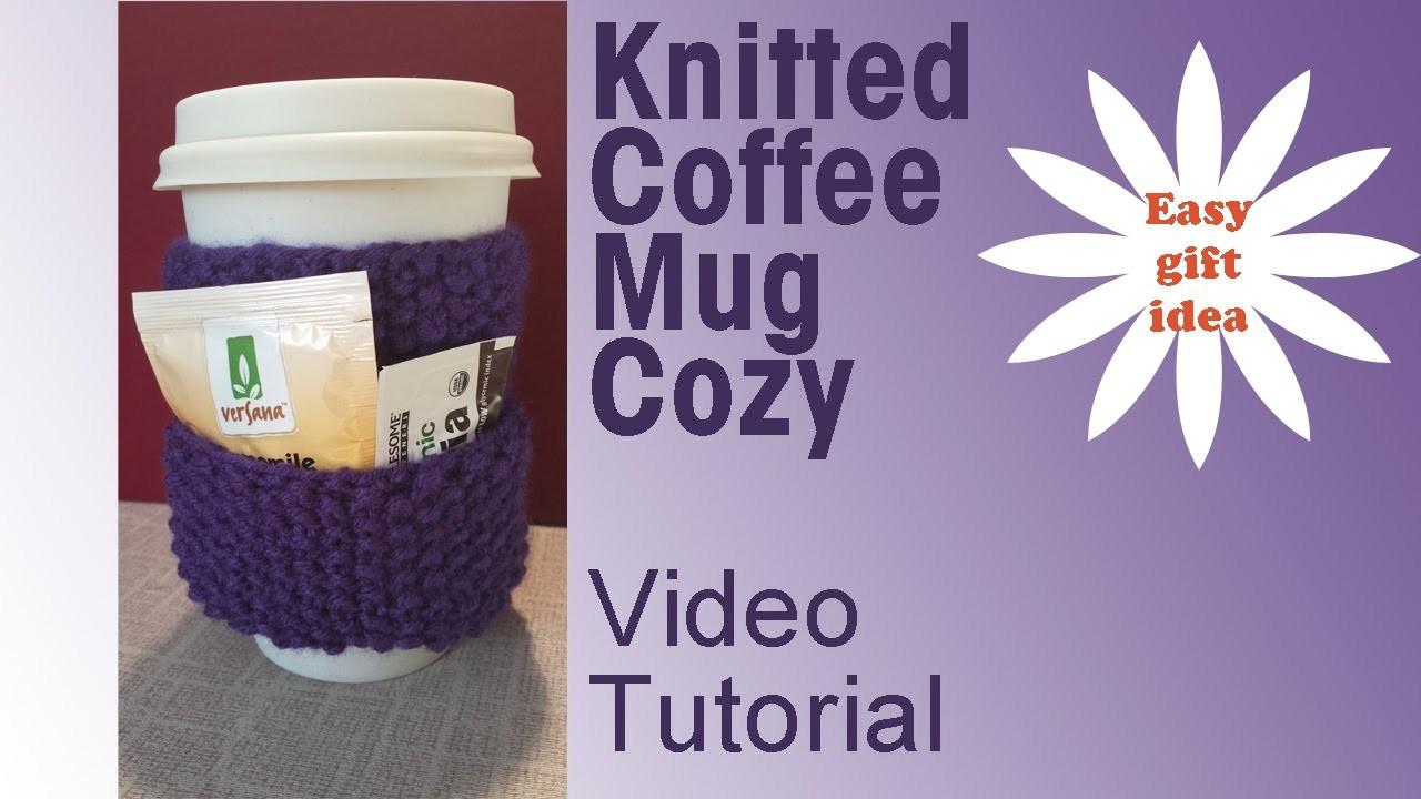 Knitted Coffee Mug Cozy Easy Holiday Diy Gifts