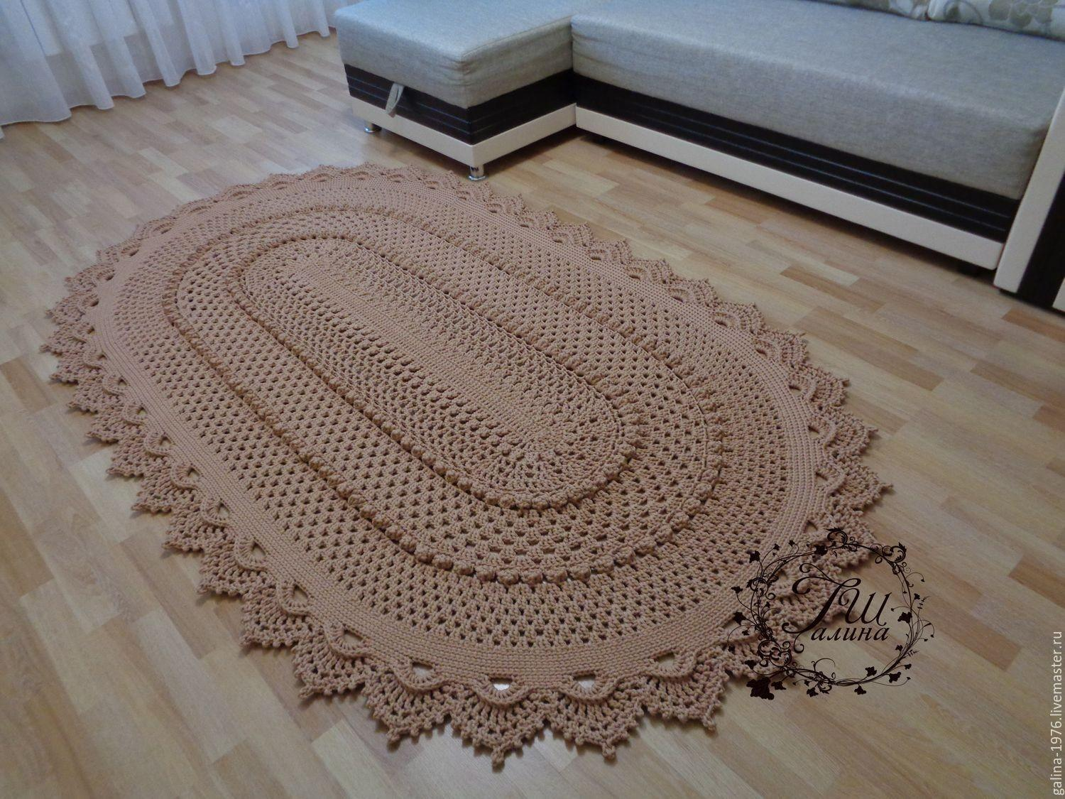 Knitted Rug True Shop Livemaster Shipping